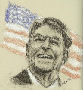 Reagan in Conte Crayons - Missing You