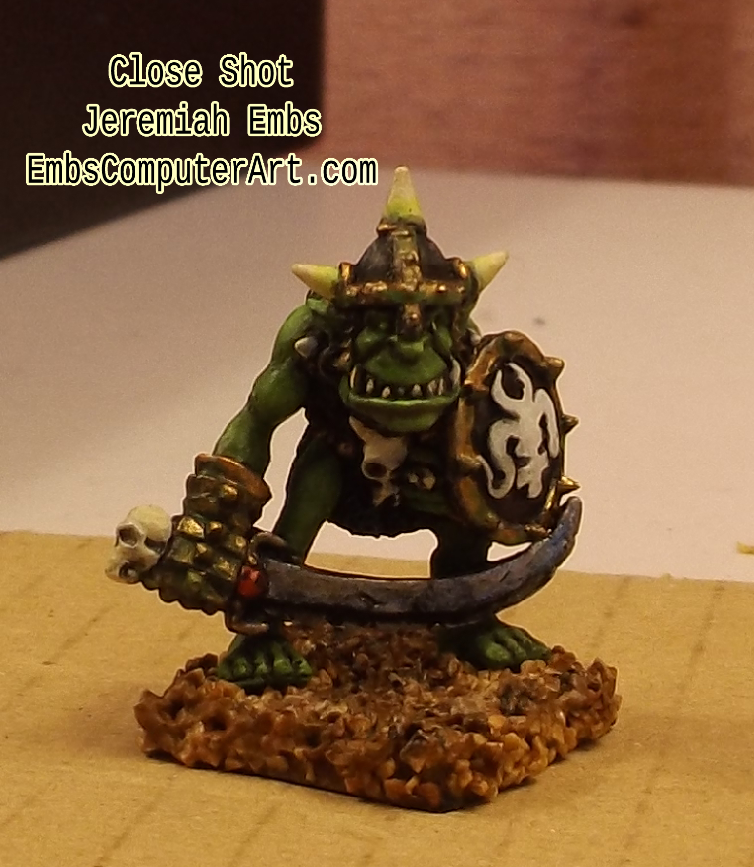 Close Shot - Orc is ready to rumble and tumble!